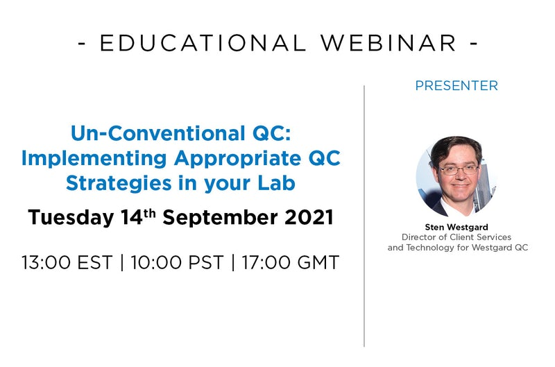 Un-conventional QC: Implementing Appropriate QC Strategies in your Lab