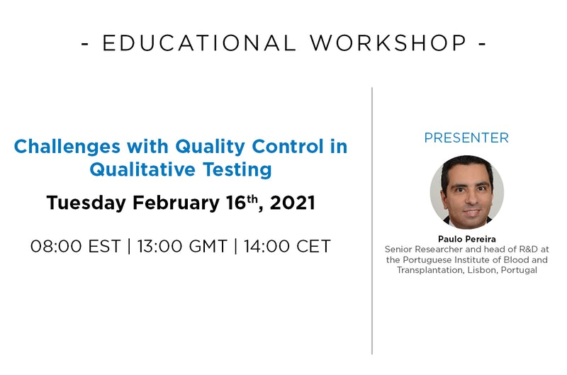 Challenges with Quality Control in Qualitative Testing