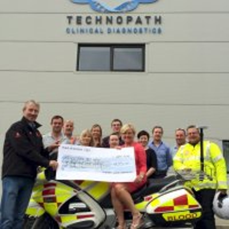Technopath Clinical Diagnostics Raise Funds for Blood Bike Mid West