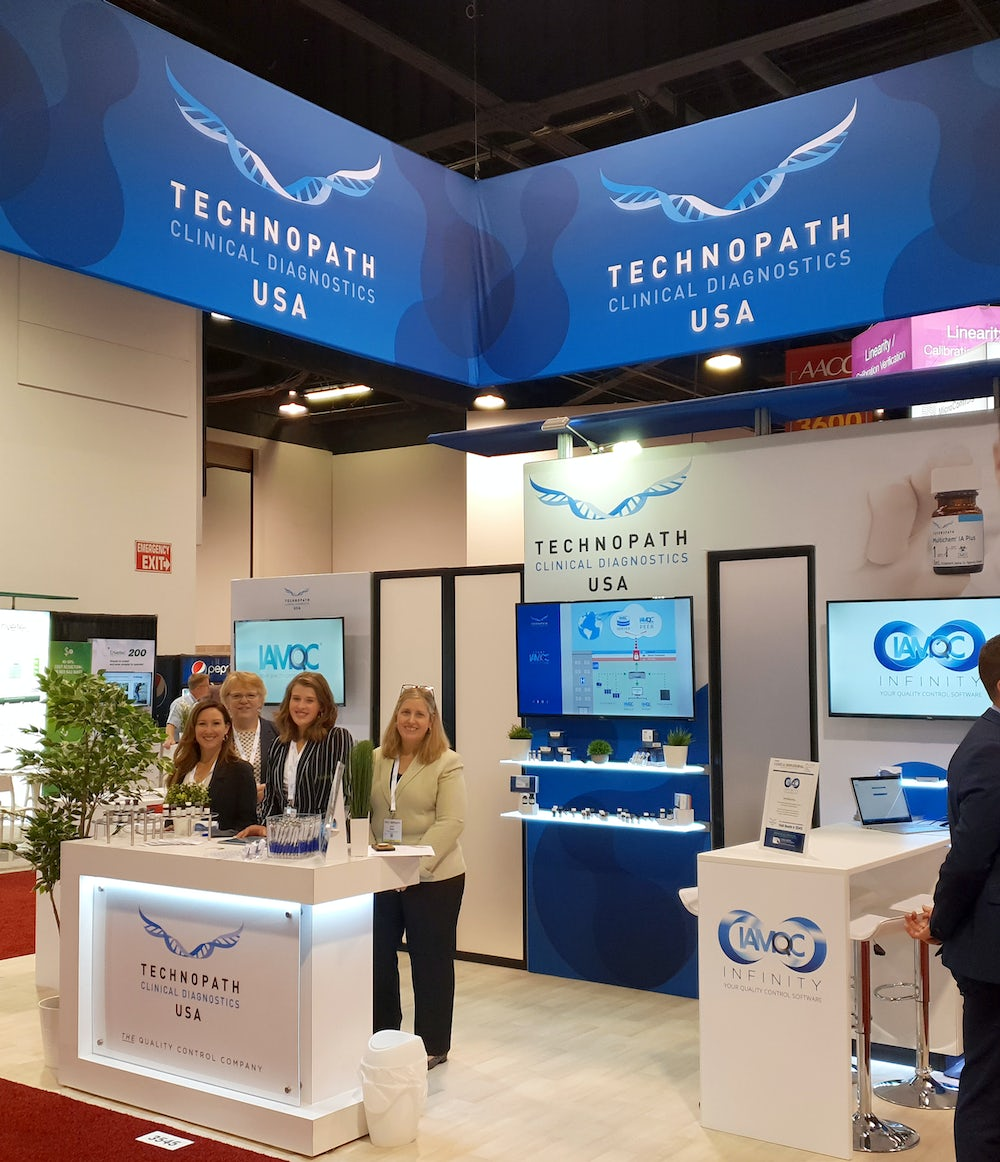 Technopath Clinical Diagnostics booth at AACC 2019