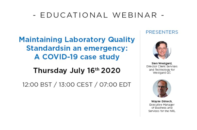 Maintaining laboratory quality standards in an emergency: A COVID-19 case study.