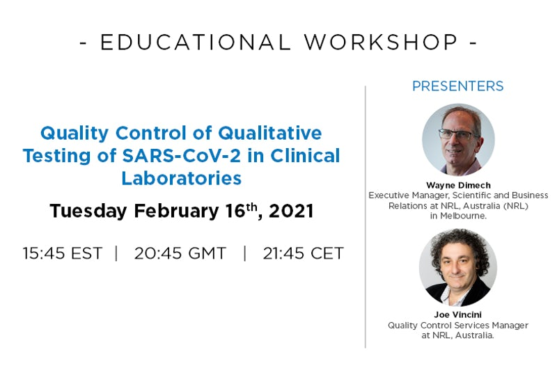 Quality Control of Qualitative Testing of SARS-CoV-2 in Clinical Laboratories